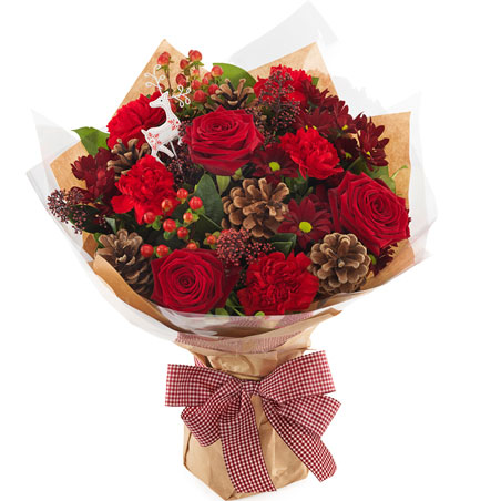 Add a Traditional Christmas Flower Bouquet