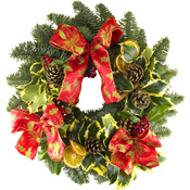 Luxury Pine Wreath on a 12Inch Ring