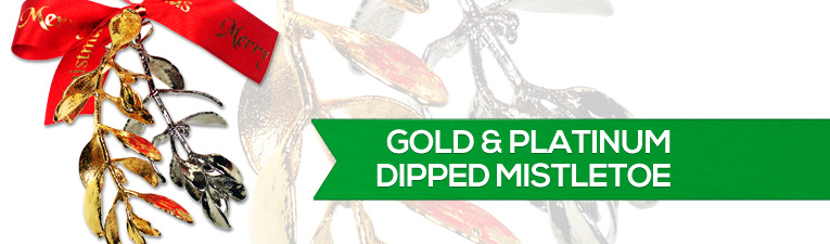 Gold and Platinum Dipped Mistletoe